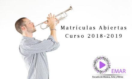 Abrimos las Inscripciones para el curso 2018-2019